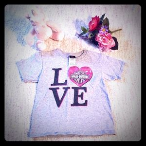 Harley-Davidson toddler girl's Love heart t-shirt